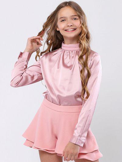 Купить Блуза, To Be Too, Розовый, Нейлон-65%, Полиэстер-30%, Эластан-5%, Женский