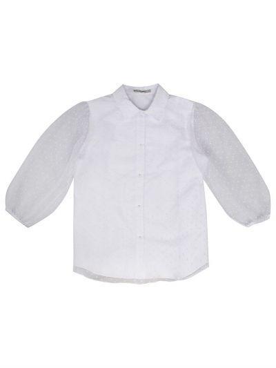Купить Блуза, Noble People, Белый, Хлопок-65%, Полиэстер-35%, Женский