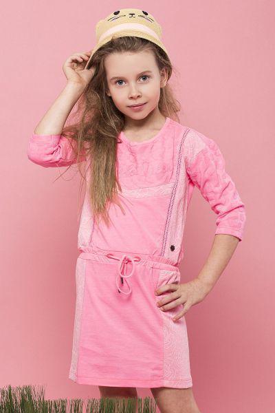 Купить Платье, Vingino, Розовый, Хлопок-73%, Полиэстер-25%, Эластан-2%, Женский