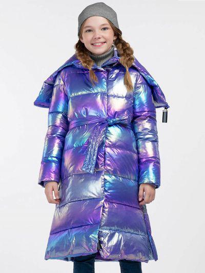пальто смена для девочки, фиолетовое