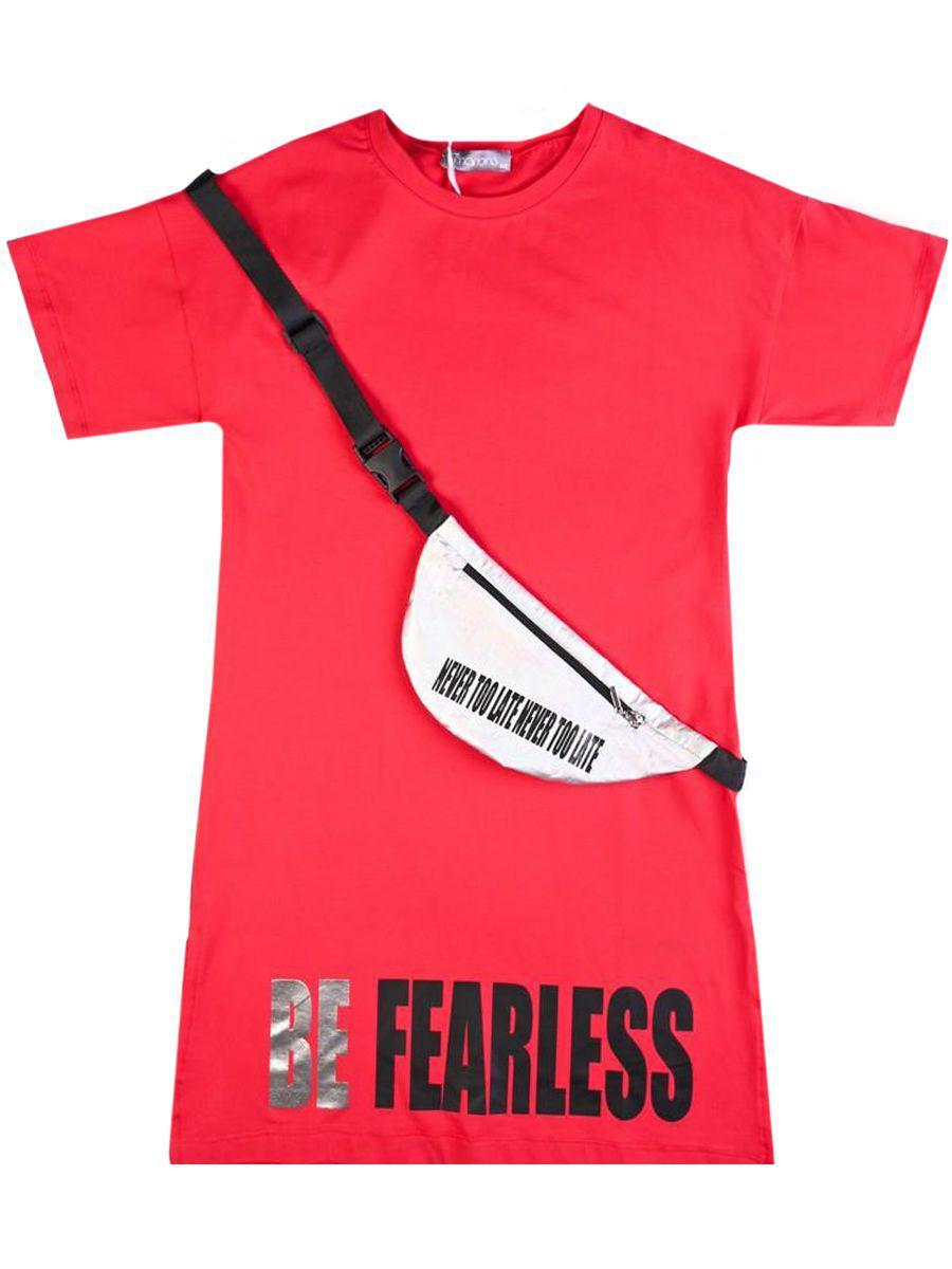 Платье, Marions, Красный, Хлопок-95%, Эластан-5%, Женский  - купить со скидкой