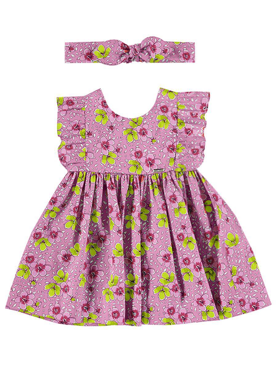 вязаные платье mayoral для девочки, розовое