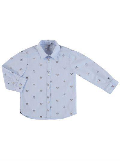 рубашка mayoral для мальчика, голубая