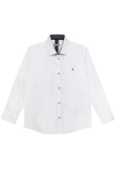 Рубашка, Noble People, Белый, Хлопок-80%, Полиэстер-20%, Мужской  - купить со скидкой