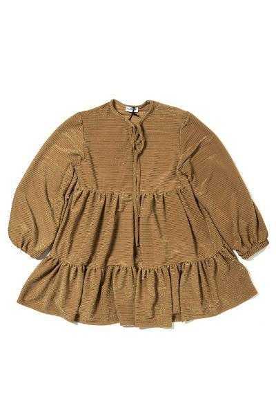 Купить Платье, Custo Barcelona, Коричневый, Хлопок-100%, Женский