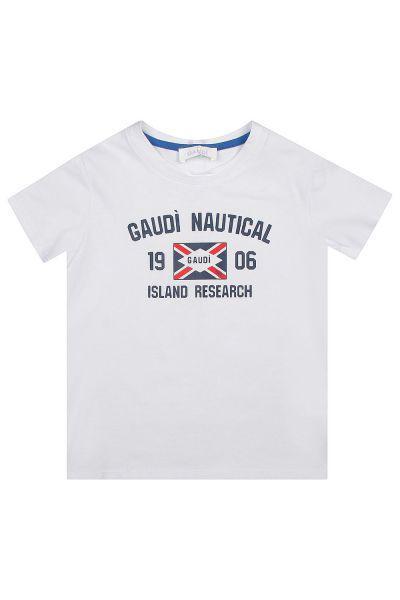 футболка gaudi для мальчика, белая