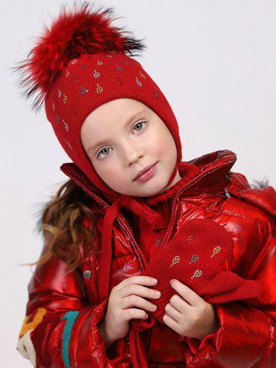 Купить Варежки, Noble People, Красный, Шерсть-40%, Вискоза-30%, Полиамид-20%, Кашемир-10%, Женский