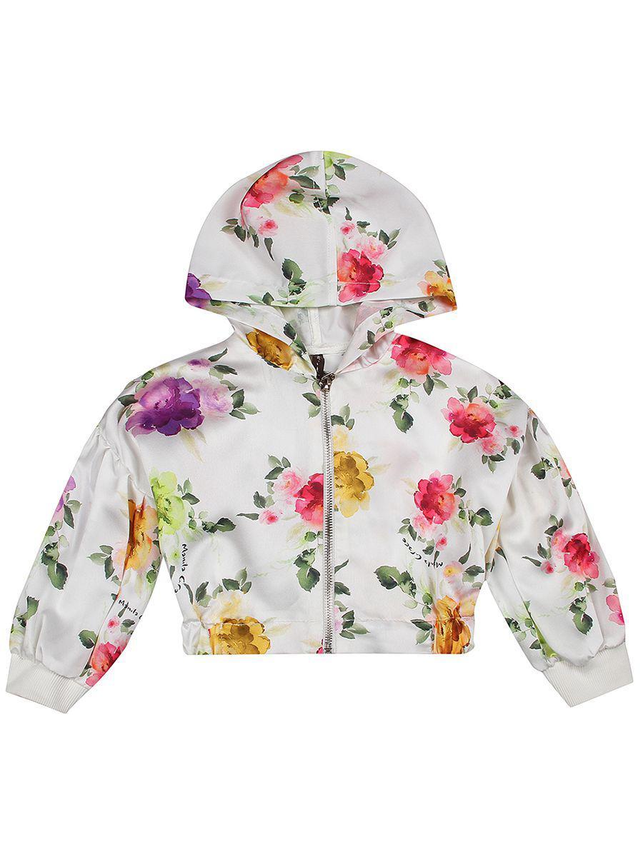 куртка manila grace для девочки, белая