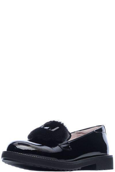 Туфли, Kapika, Черный, Натуральная кожа/Искусственная кожа-100%, Женский  - купить со скидкой