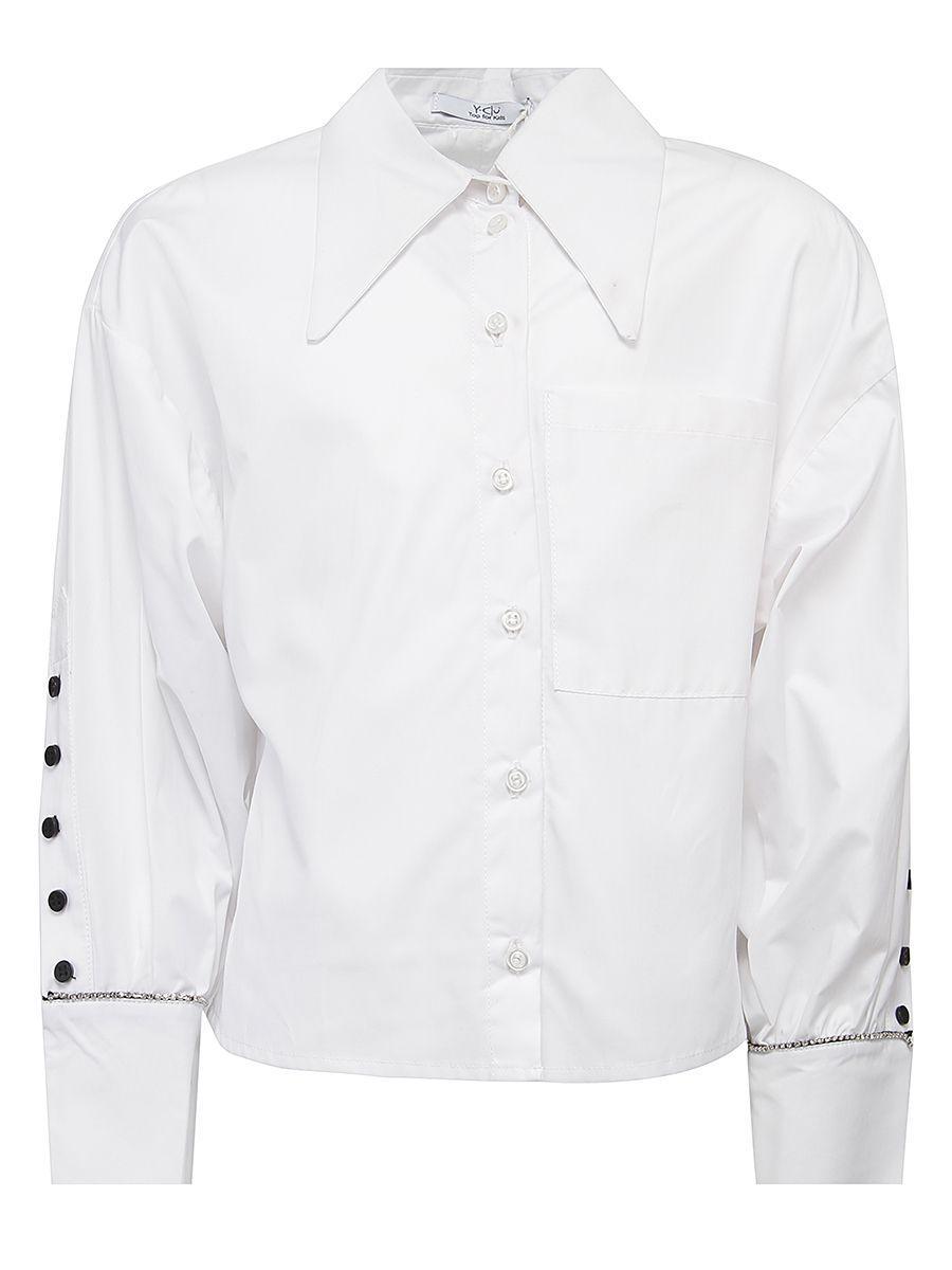 блузка y-clu' для девочки, белая