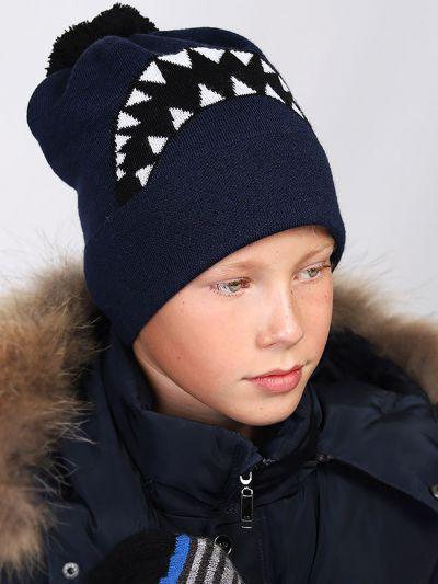шапка noble people для мальчика, синяя