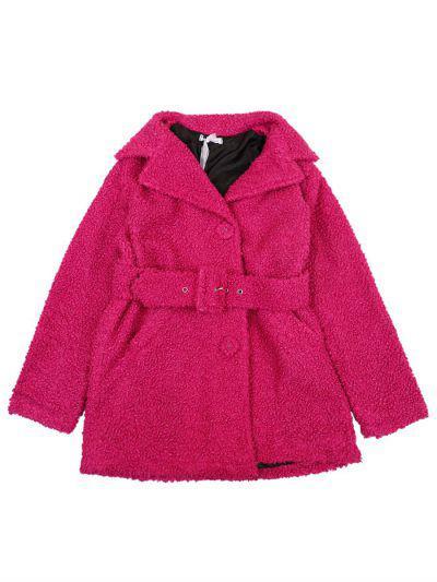 Купить Пальто, Gaialuna, Розовый, Полиэстер-100%, Женский