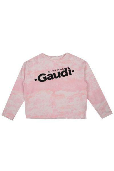 толстовка gaudi для девочки, розовая