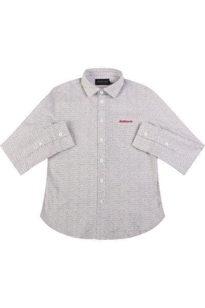 рубашка jeckerson для мальчика, белая