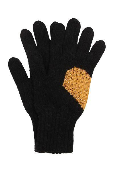 Перчатки, Noble People, Черный, Шерсть-40%, Вискоза-30%, Полиамид-20%, Кашемир-10%, Женский  - купить со скидкой