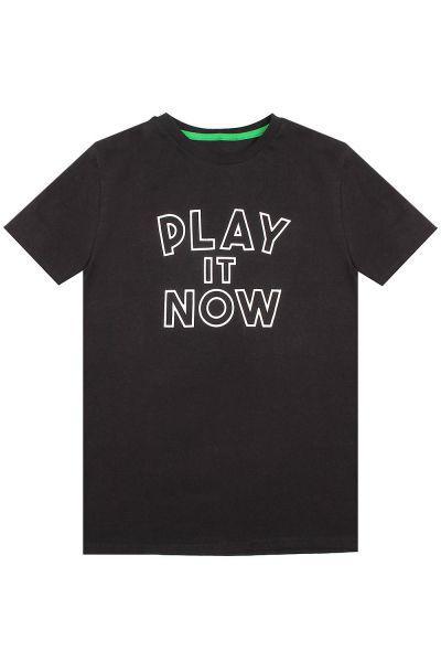 футболка gaudi для мальчика, черная
