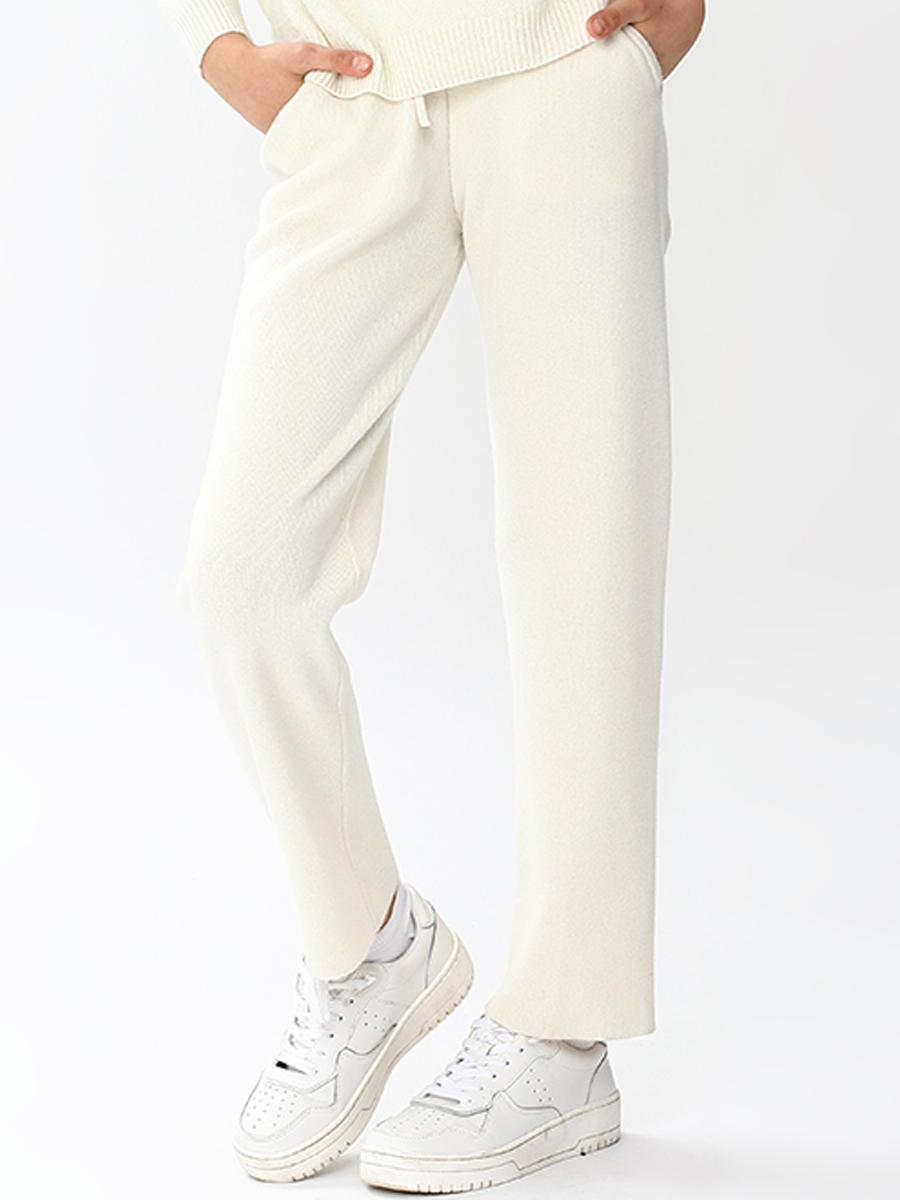 брюки noble people для девочки, белые