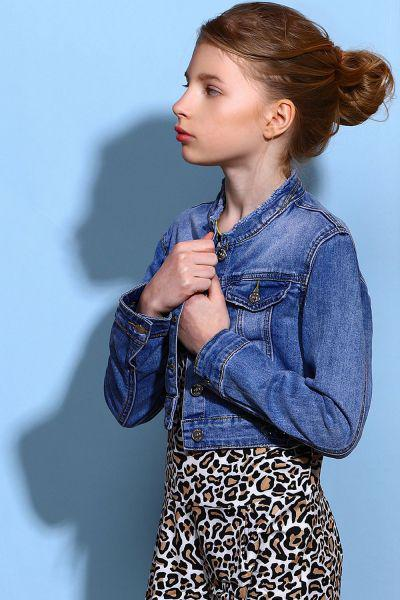 куртка y-clu' для девочки, синяя