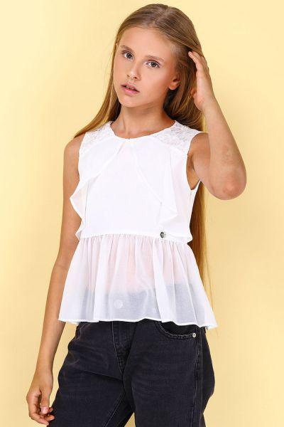 блузка gaudi для девочки, белая