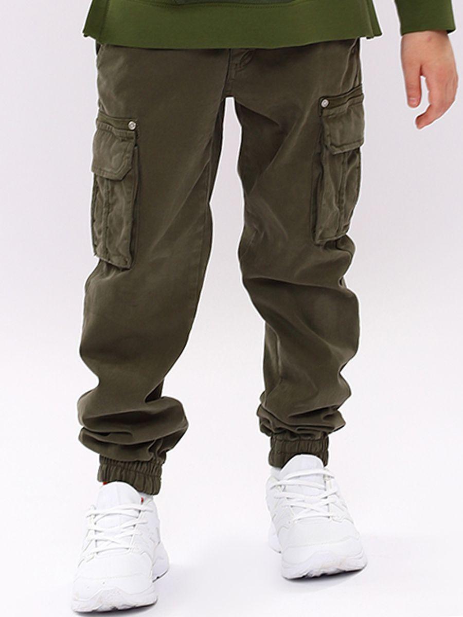 брюки y-clu' для девочки, зеленые