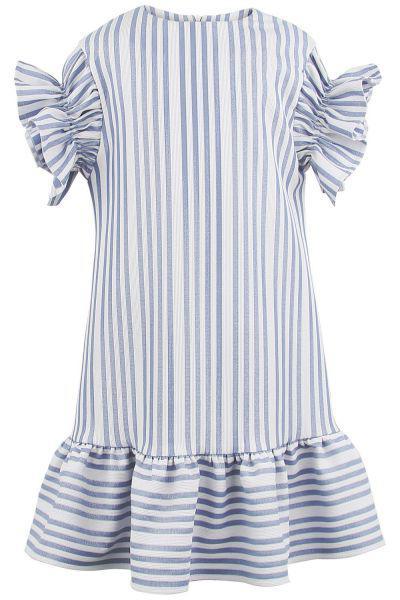 платье silver spoon для девочки, голубое