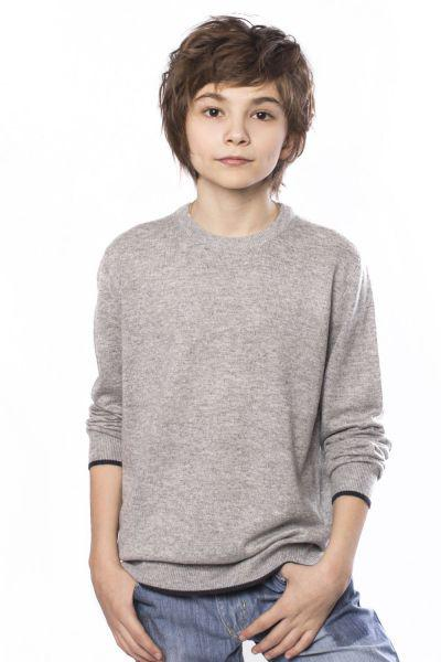 джемпер jeckerson для мальчика, серый