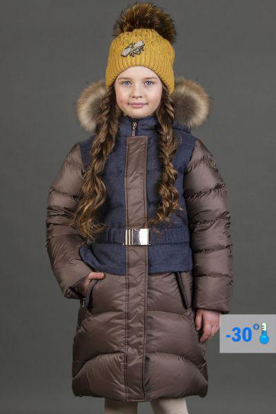 Купить Пальто, Les Trois Vallees, Коричневый, Полиэстер-100%, Женский