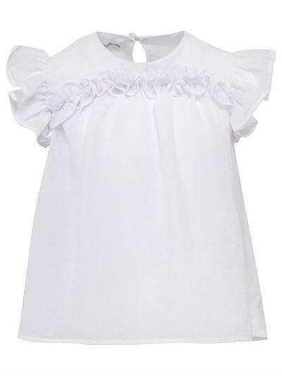 Купить Блуза, Y-clu', Белый, Хлопок-93%, Эластан-7%, Женский