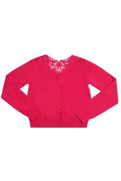 Кардиган для девочки TF15410 белый To Be Too розовый, Китай (КНР)
