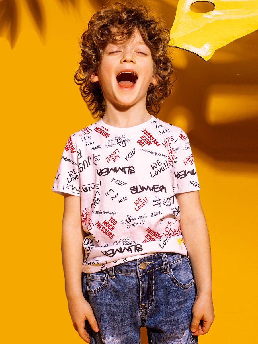 футболка y-clu' для мальчика, разноцветная