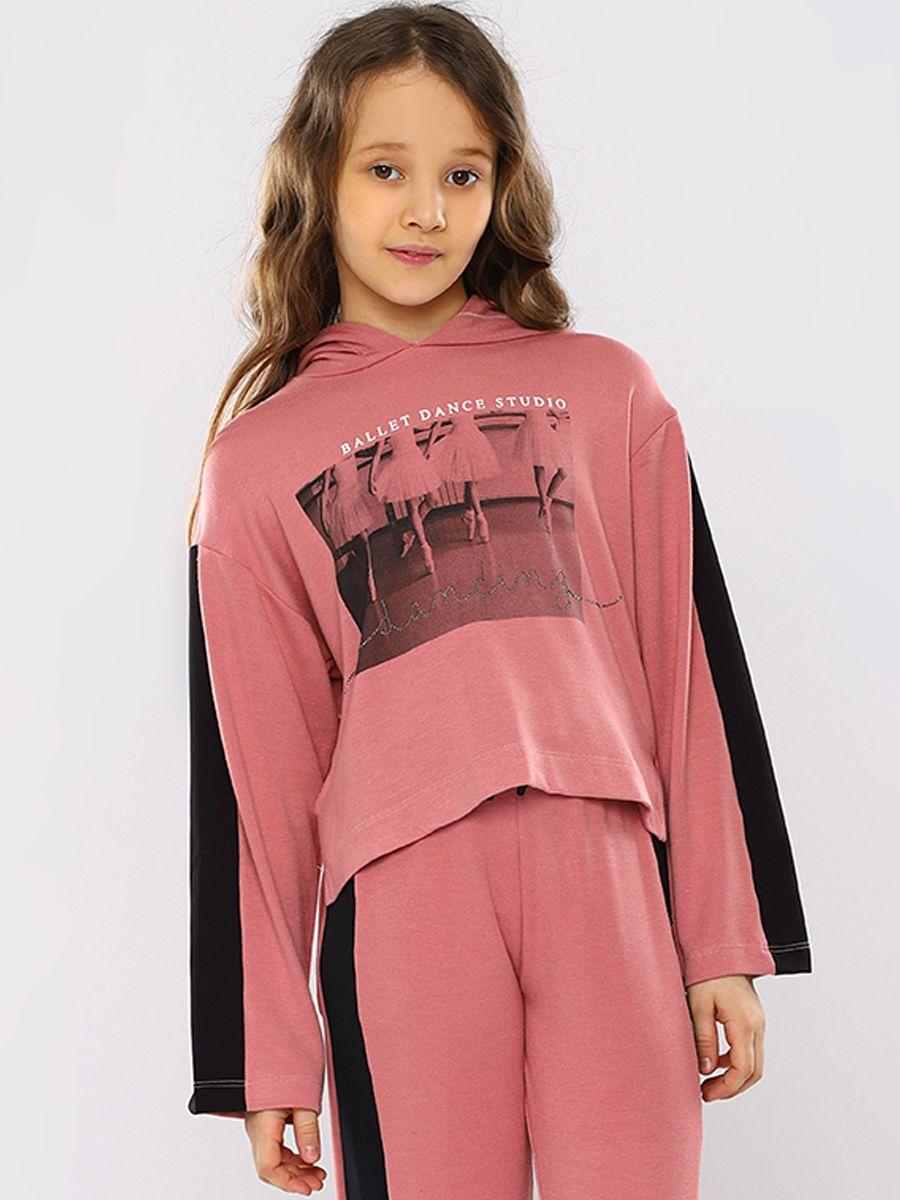 толстовка y-clu' для девочки, розовая