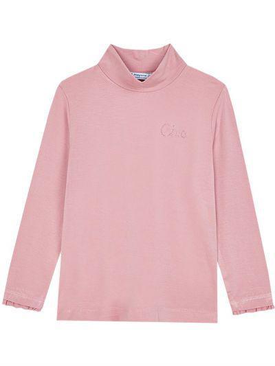 водолазка mayoral для девочки, розовая