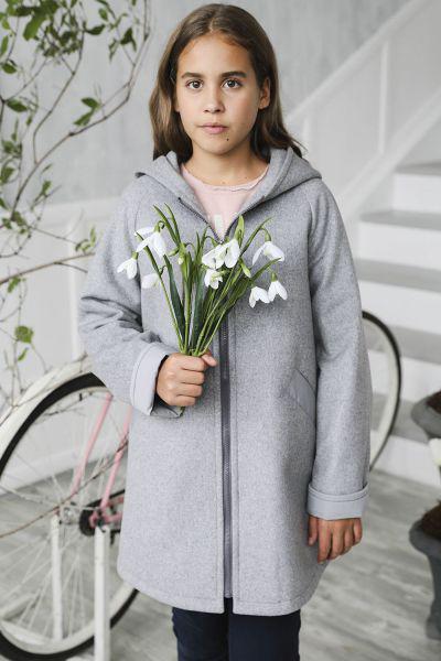 Купить Пальто, Mamma Mila, Серый, Шерсть-60%, Полиэстер-40%, Женский
