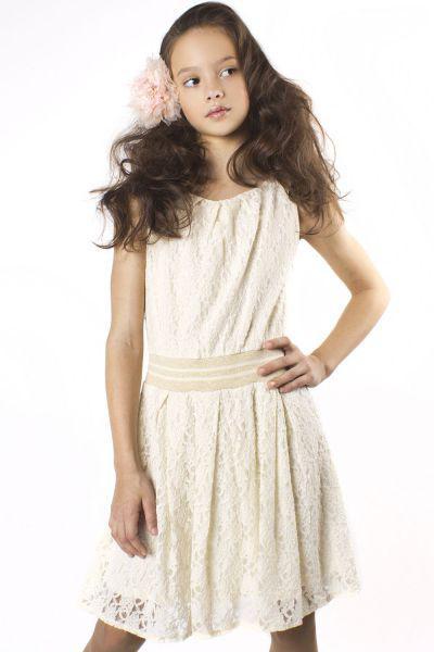 платье byblos для девочки, белое
