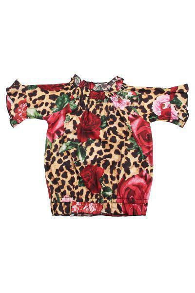 блузка gaudi для девочки, разноцветная