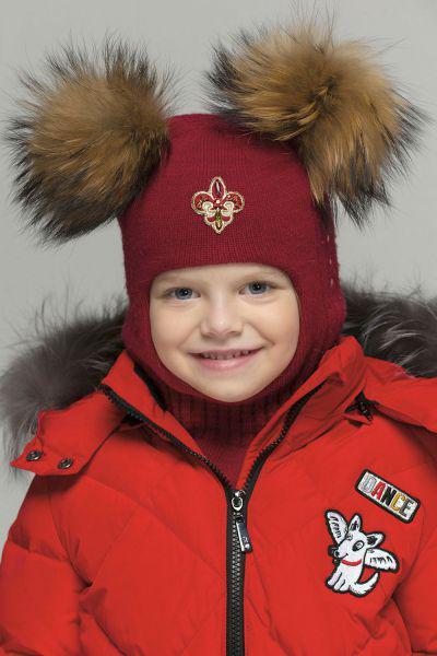Купить Шлем, Noble People, Красный, Шерсть-40%, Вискоза-30%, Полиамид-20%, Кашемир-10%, Женский