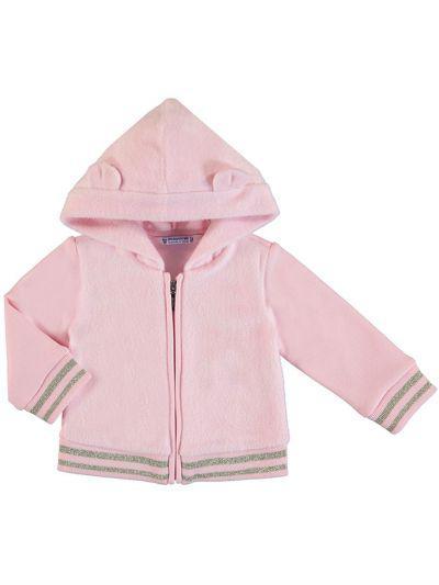 Купить Куртка, Mayoral, Розовый, Полиэстер-60%, Хлопок-36%, Эластан-3%, Металл-1%, Женский