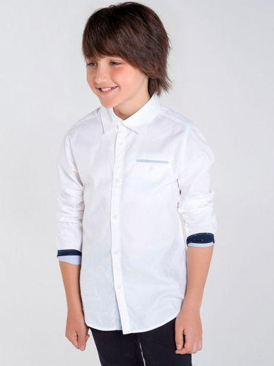 Купить Рубашка, Mayoral, Белый, Хлопок-100%, Мужской