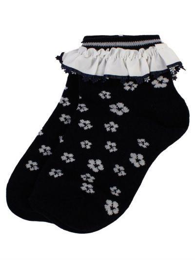 Носки детские для девочки C44 белый Kidsfuture синий