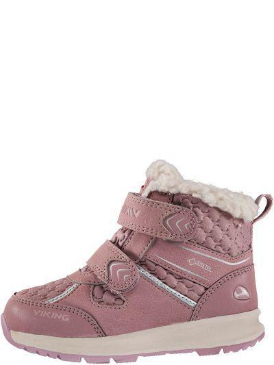 Ботинки, Viking, Розовый, Текстиль-50%, синтетический материал-50%, Женский  - купить со скидкой