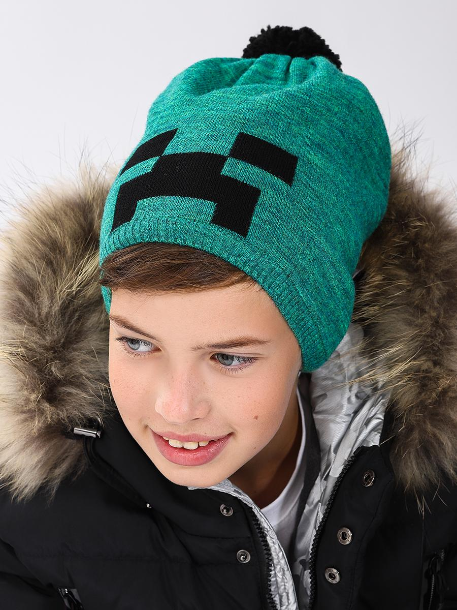 шапка noble people для мальчика, зеленая