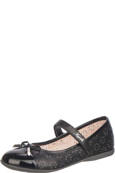 Туфли для девочки 23424k-1 чёрный Kapika, Российская Федерация