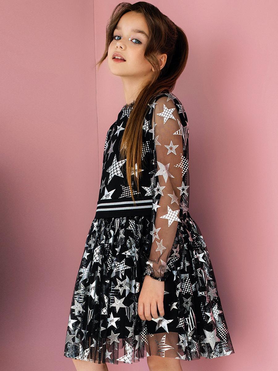 платье noble people для девочки, серое