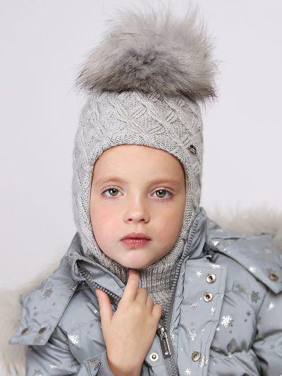 Купить Шлем, Noble People, Серый, Шерсть-43%, Вискоза-28%, Полиамид-14%, Люрекс-8%, Кашемир-7%, Женский