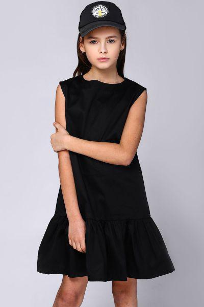 Купить Платье, Gaialuna, Черный, Хлопок-97%, Эластан-3%, Женский