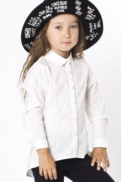 Блуза Y-clu` для девочки YB9377 белый, Китай (КНР)