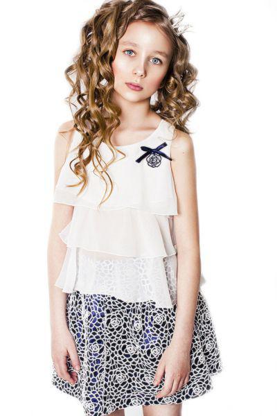 Купить со скидкой Блуза+юбка
