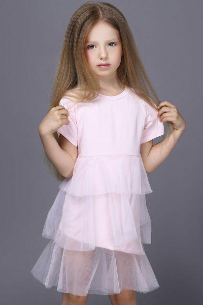 Купить Платье, MNC, Розовый, Хлопок-100%, Женский