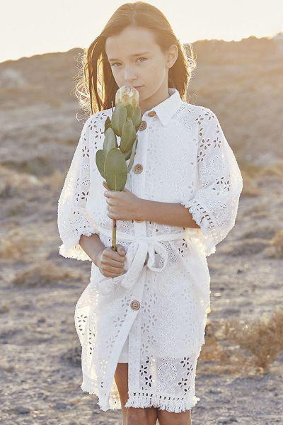 платье gaialuna для девочки, белое