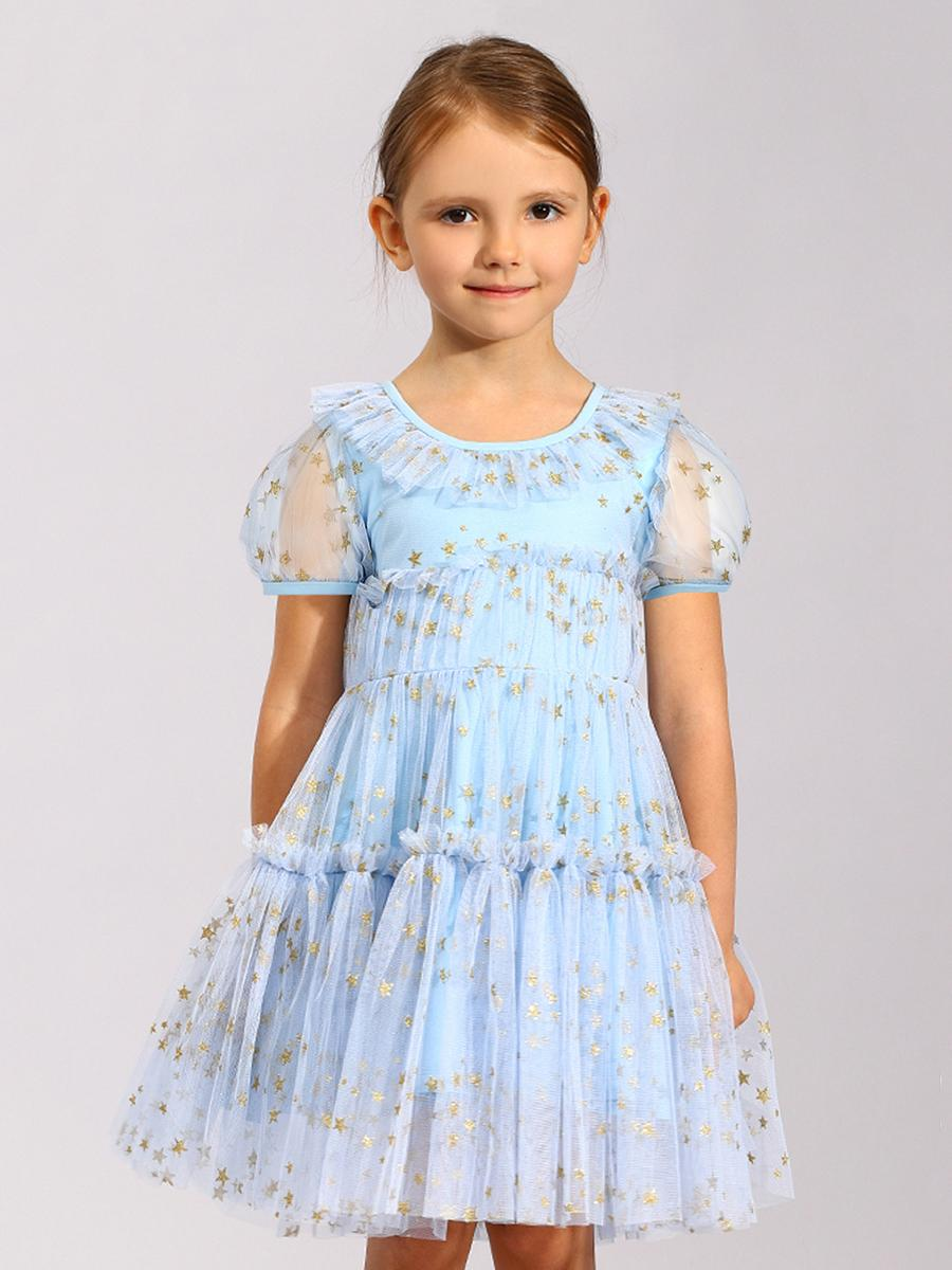 платье noble people для девочки, голубое
